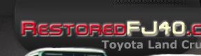 Toyota Land Cruiser Restoration at Restored FJ40